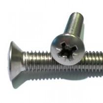 Pozi Raised Countersunk Head Machine Screws