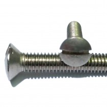 Slotted Raised Countersunk Head Machine Screws