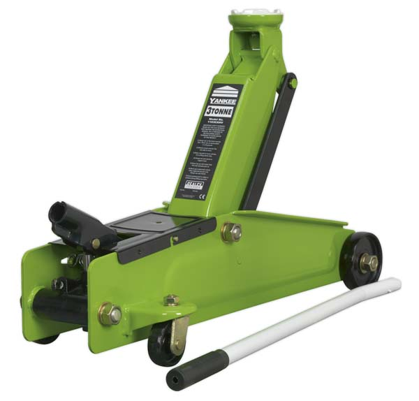Sealey - 1153CXHV  Trolley Jack 3tonne Long Chassis Heavy-Duty Hi-Vis