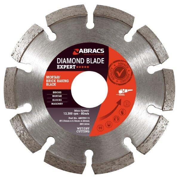 Abracs Diamond Brick Raking Blade 115mm x 7mm x 22mm