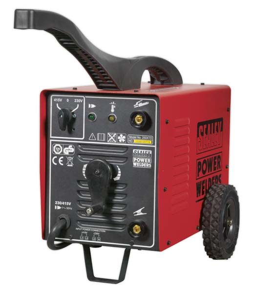 Sealey - 220XTD  Arc Welder 220Amp 230/415V 3ph with Accessory Kit