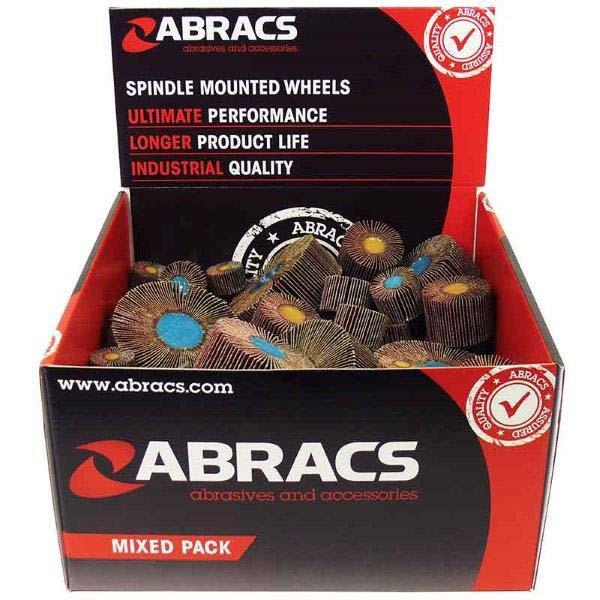 Abracs  50pc MIXED FLAP WHEEL DISPLAY PACK