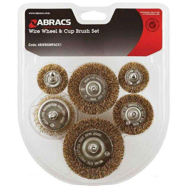 Abracs  6pc SPINDLE MOUNTED WIRE BRUSH PACK