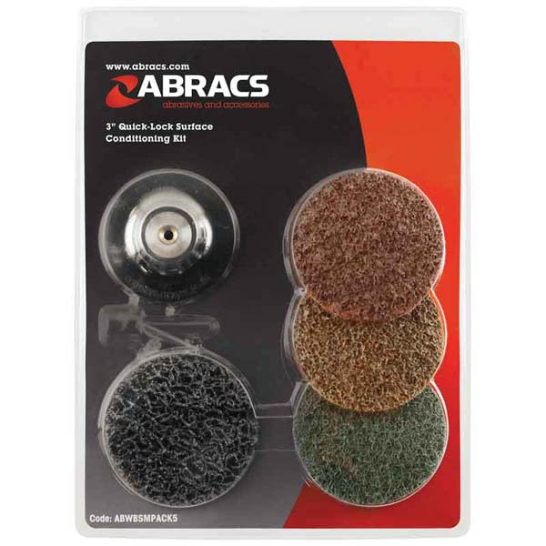 "Abracs  3"" ROLOC SURFACE CONDITIONING KIT"