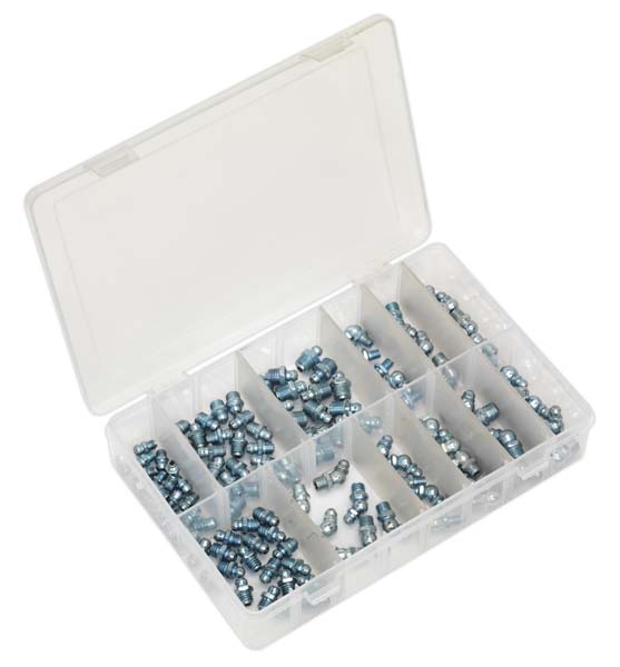 Sealey - AB008GN  Grease Nipple Assortment 115pc - Metric