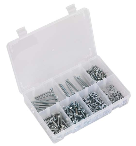 Sealey - AB049SNW  Setscrew, Nut & Washer Assortment 444pc High Tensile M5 Metric