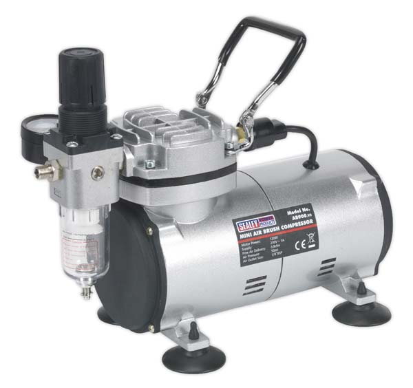 Sealey - AB900  Mini Air Brush Compressor