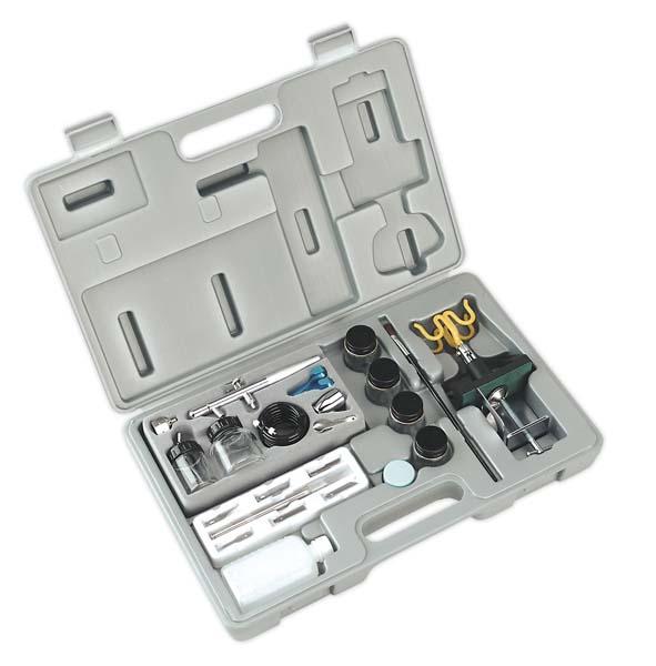 Sealey - AB932/K  Air Brush Utility Kit including AB932 Air Brush