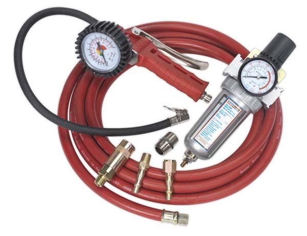 Sealey Air Tool Kit Package (SA9302, SA2001/FR, SA1/1212, AHC5, ACX60)
