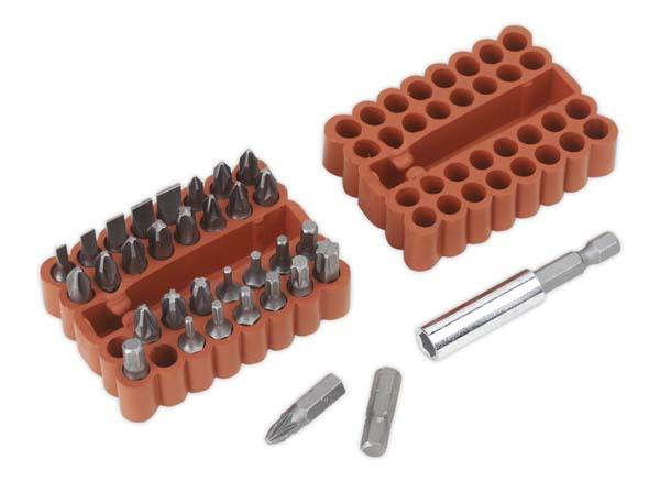 Sealey - AK110  Bit & Magnetic Adaptor Set 33pc
