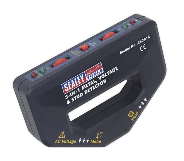 Sealey - AK2018  Metal, Voltage & Stud Detector 3-in-1