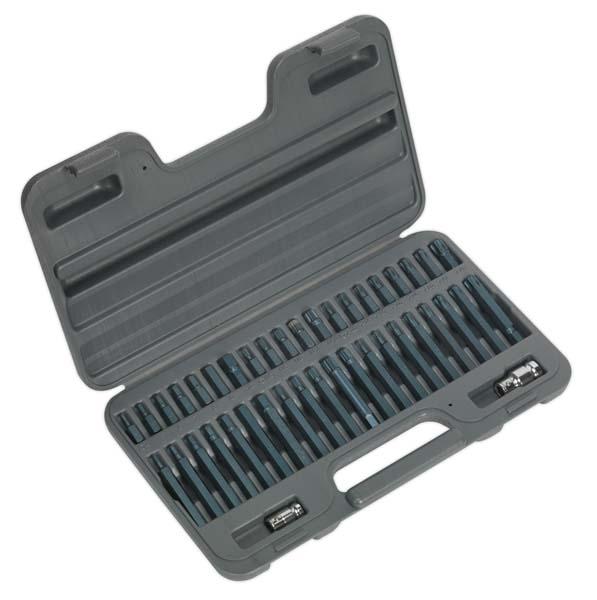 "Sealey - AK21942  TRX-Star/Hex/Spline Bit Set 42pc 3/8"" & 1/2""Sq Drive"