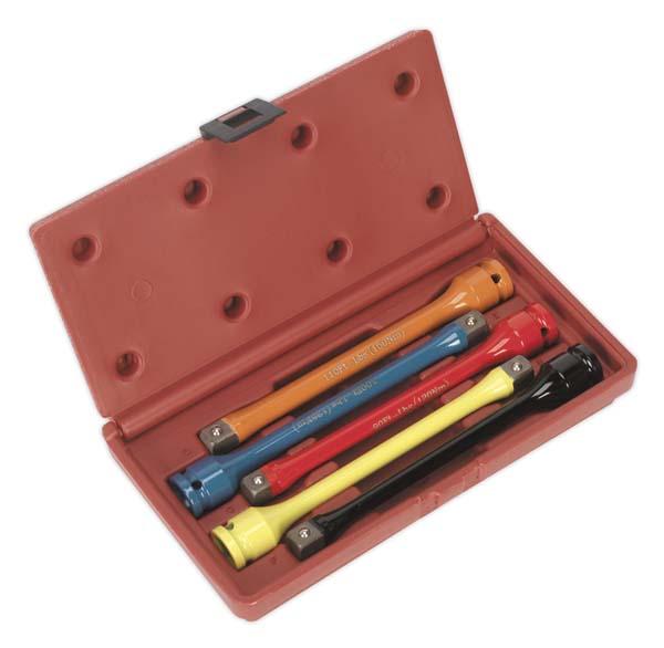 """Sealey - AK2242  Torque Stick Set 5pc 1/2""""Sq Drive"""
