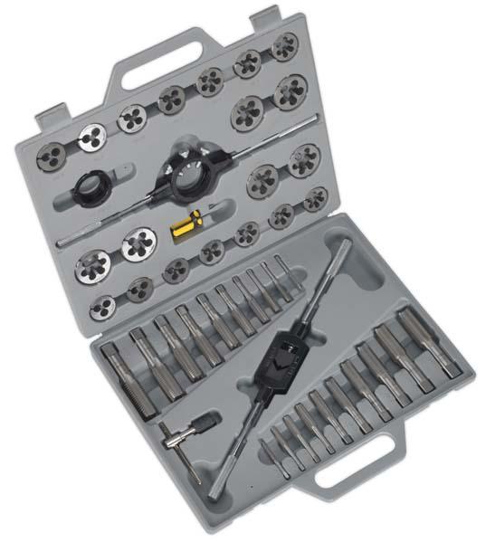 Sealey - AK303  Tap & Die Set 45pc Split Dies Metric
