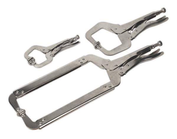 Sealey - AK66  Locking 'C' Clamp Set 3pc