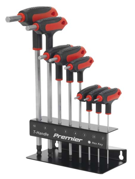 Sealey - AK7195  Ball-End Hex Key Set 8pc T-Handle Metric