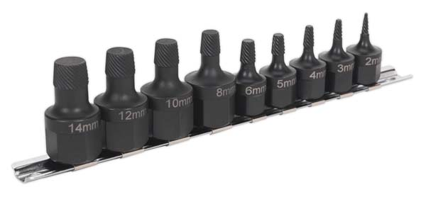 Sealey - AK7222  Stud Extractor Set 9pc