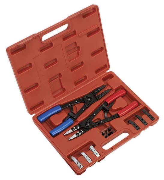 Sealey - AK8500  Circlip Pliers Set Internal/External 265mm Heavy-Duty
