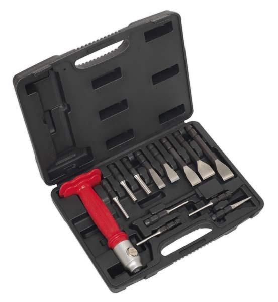 Sealey - AK9215  Interchangeable Punch & Chisel Set 13pc