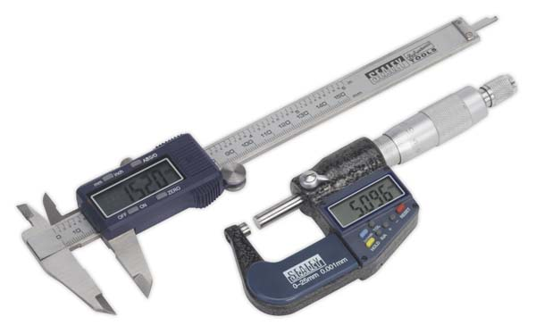 Sealey - AK9637D  Digital Measuring Set 2pc