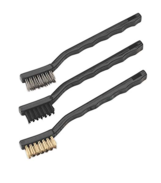 Sealey - AK9791  Miniature Brush Set 3pc