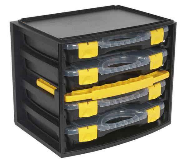 Sealey - AP0709  Portable 4 Case Modular Organizer
