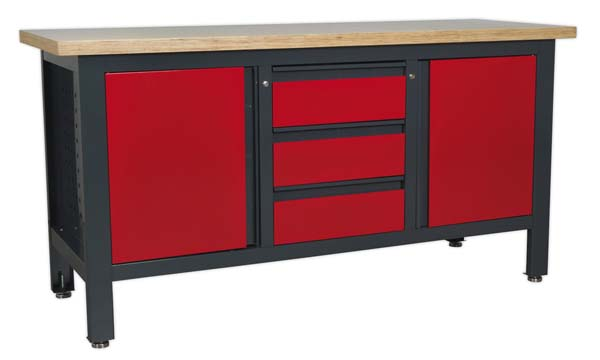 Sealey - AP1905C  Workstation with 3 Drawers & 2 Cupboards