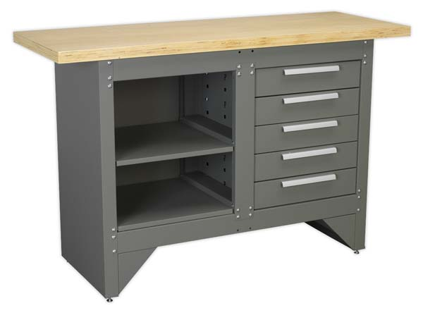 Sealey - AP2030BB  Workbench with 5 Drawers Ball Bearing Slides Heavy-Duty