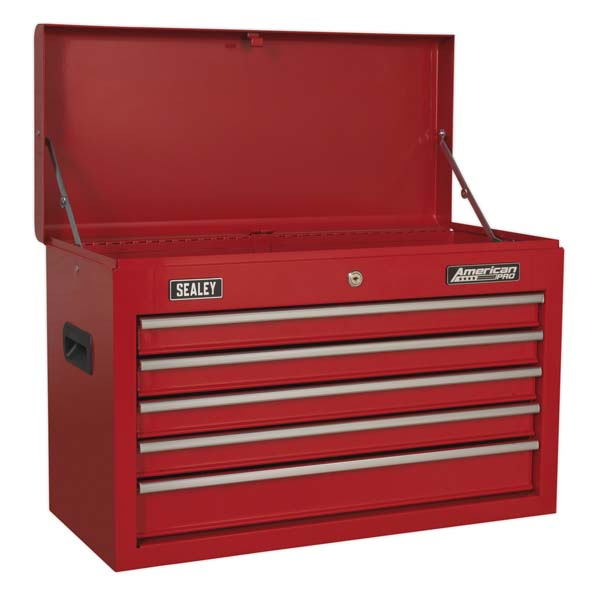 Sealey - AP225  Topchest 5 Drawer with Ball Bearing Slides - Red