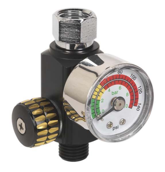 Sealey - AR01  On-Gun Air Pressure Regulator/Gauge