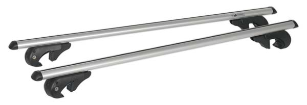 Sealey - ARB120  Aluminium Roof Bars 1200mm for Traditional Roof Rails 90kg Max Capacity
