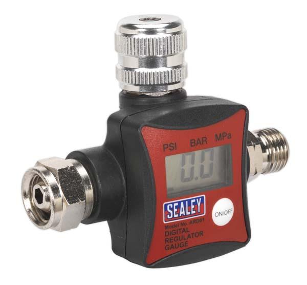 Sealey - ARD01  On-Gun Air Pressure Regulator/Gauge Digital