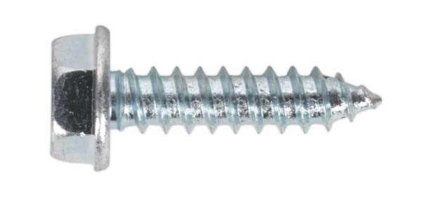 """Sealey - ASF103  Acme Screw Washer Faced Zinc #10 x 3/4"""" BS 6982C Pack of 50"""