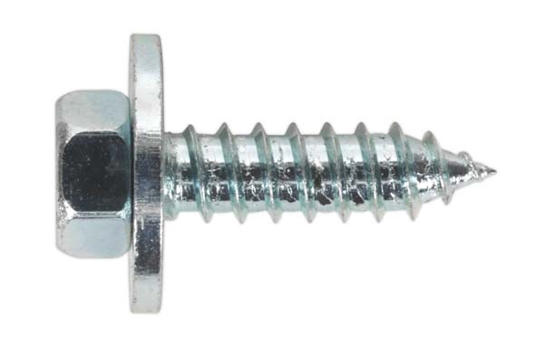 """Sealey - ASW12  Acme Screw with Captive Washer #12 x 3/4"""" Zinc BS 7976/6903/B Pack of 100"""