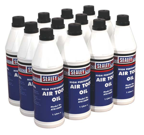 Sealey - ATO/1000  Air Tool Oil 1ltr Pack of 12