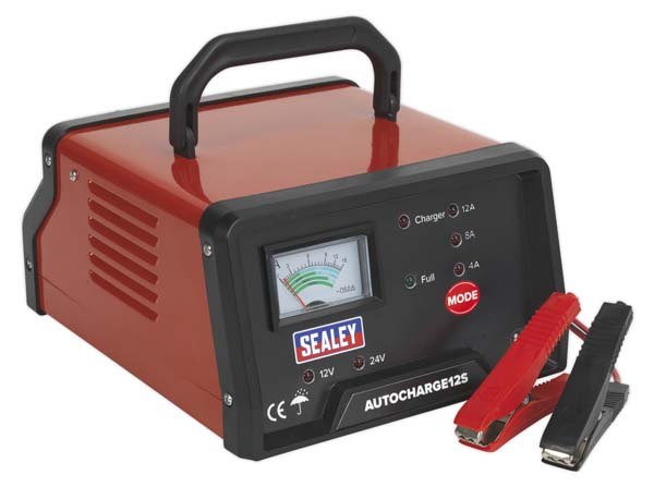 Sealey - AUTOCHARGE12S  Auto Maintenance High Frequency Battery Charger 12/24V 12Amp