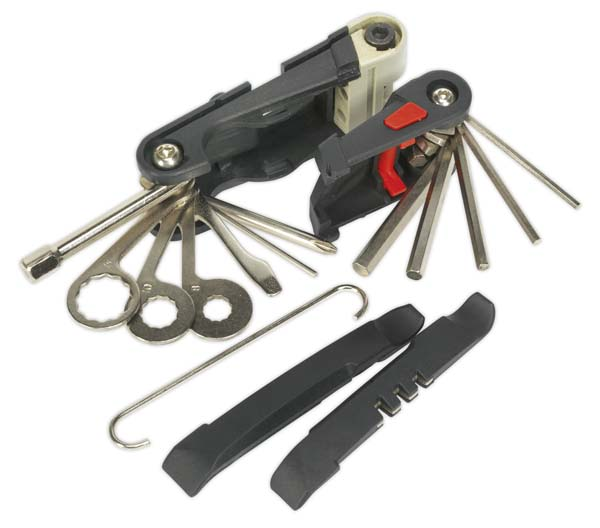 Sealey - BC101  Folding 18 Function Multi-Tool Set - Bicycle