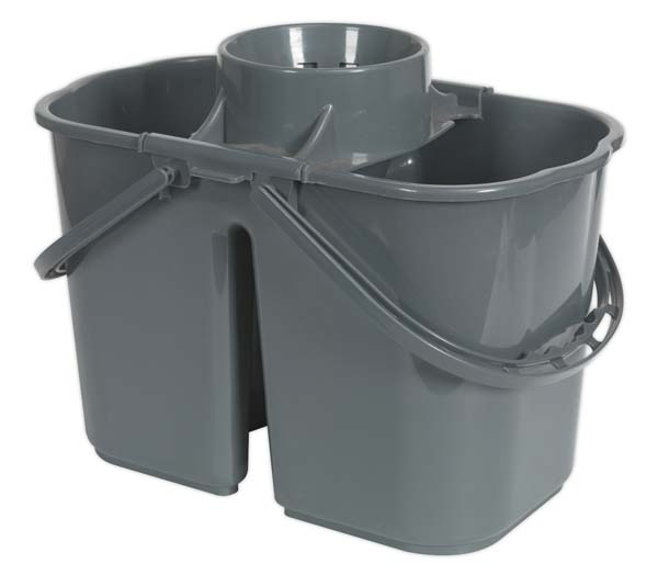 Sealey - BM07  Mop Bucket 15ltr - 2 Compartment