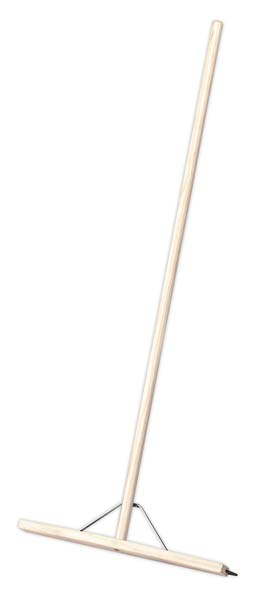 "Sealey - BM24RS  Rubber Floor Squeegee 24""(600mm) with Wooden Handle"