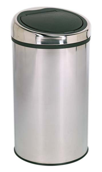 Sealey - BM72  Touch Bin 50ltr Stainless Steel