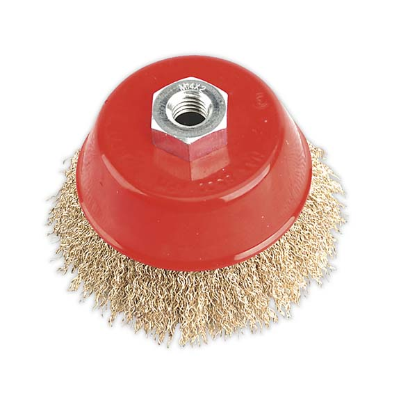 Sealey - CBC100  Brassed Steel Cup Brush