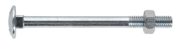 Sealey - CBN675  Coach Bolt & Nut M6 x 75mm Zinc DIN 603 Pack of 100