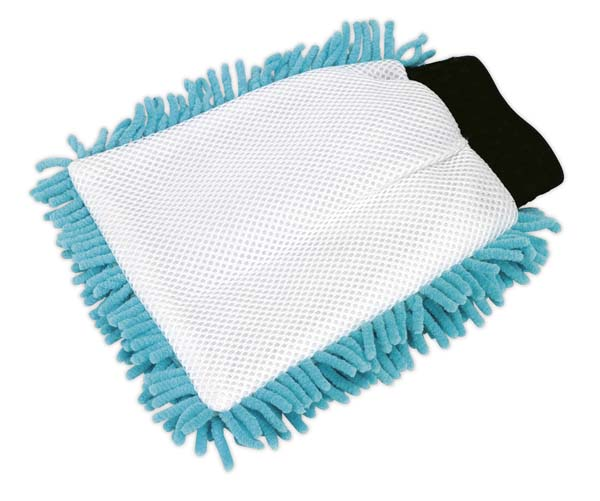 Sealey - CC77  Shaggy Microfibre Mitt 2-in-1