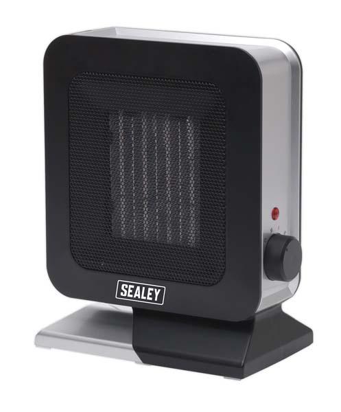 Sealey - CH2013  Ceramic Fan Heater 1400W/230V 2 Heat Settings & Thermostat