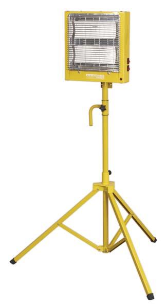 Sealey - CH28110VS  Ceramic Heater with Telescopic Tripod Stand 1.4/2.8kW 110V