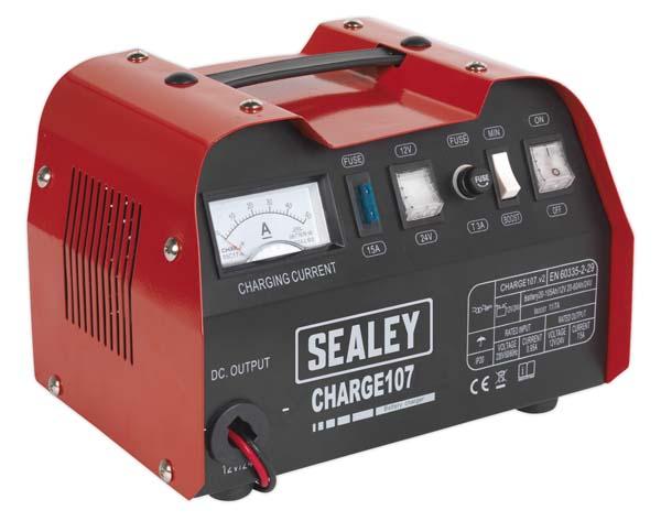 Sealey - CHARGE107  Battery Charger 11Amp 12/24V 230V