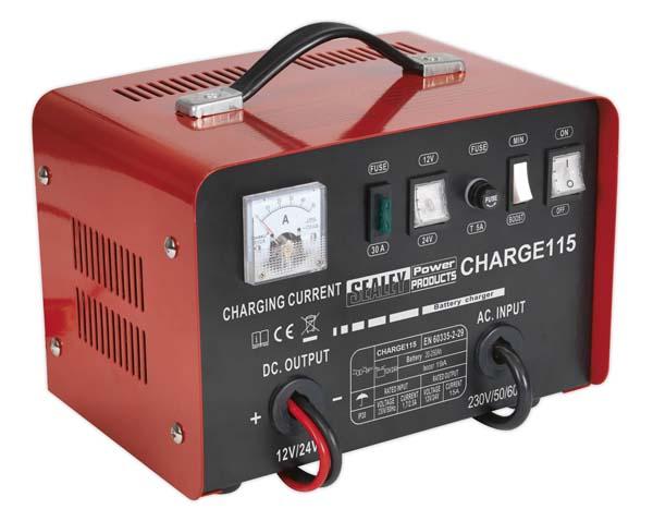 Sealey - CHARGE115  Battery Charger 19Amp 12/24V 230V