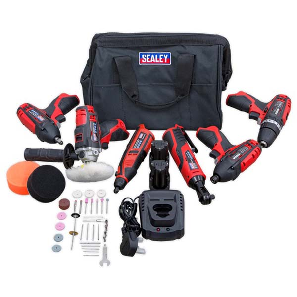 Sealey - CP1200COMBO2  CP1200 Series 6 Piece 12v Tool Combo Kit