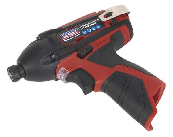 """Sealey - CP1203  Impact Driver 12V 1/4""""Hex Drive 80Nm - Body Only"""