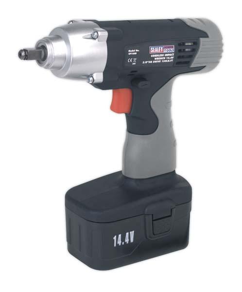 "Sealey - CP1440  Cordless Impact Wrench 14.4V 3/8""Sq Drive 150lb.ft"